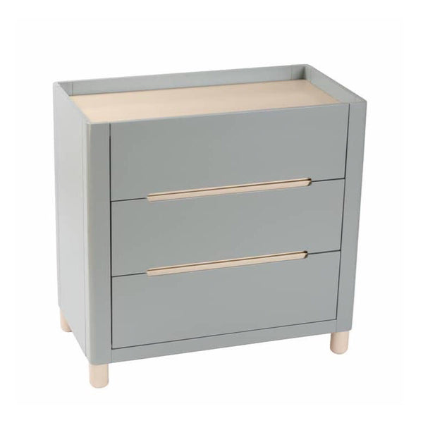 Cocoon Allure Change Table - Dove Grey and Natural Wash