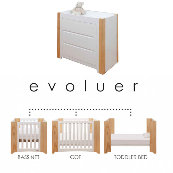 Cocoon Evoluer 4 in 1 Cot and Change Table Package