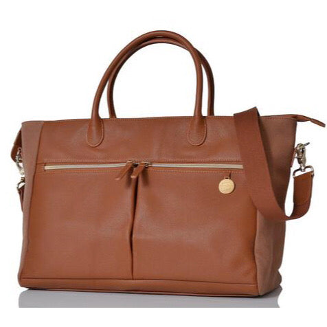 PacaPod Fortuna Leather Nappy Bag - Tan