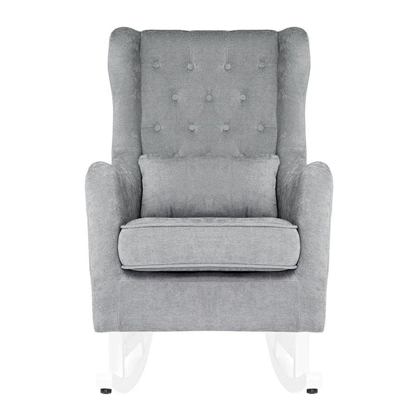 Il Tutto Bambino Claudia Rocking Chair and Ottoman - Grey/White