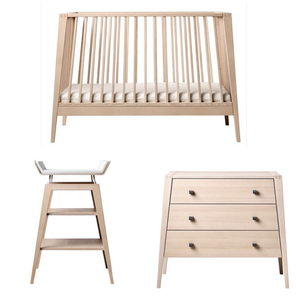 Linea by Leander Cot, Change Table and Dresser Package - Natural