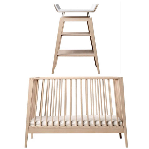Linea by Leander Cot and Change Table Package - Natural