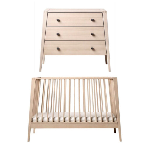 Linea by Leander Cot and Dresser Package - Natural
