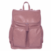 OiOi Faux Leather Backpack Nappy Bag - Dusty Rose