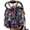 OiOi Faux Leather Backpack Nappy Bag - Botanical Floral