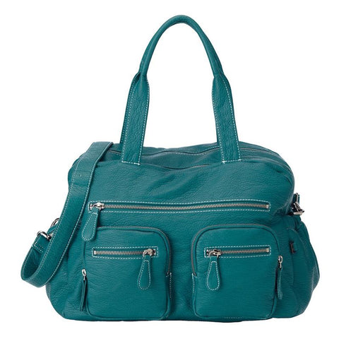 OiOi Faux Buffalo Carry All Nappy Bag - Turquoise