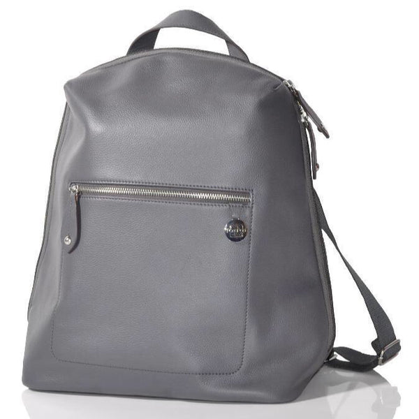 PacaPod Hartland Leather Backpack Nappy Bag - Pewter