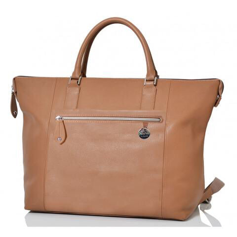 PacaPod Chiltern Leather Nappy Bag - Maple