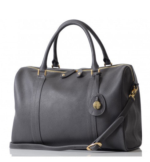 PacaPod Leather Nappy Bag Firenze - Pewter