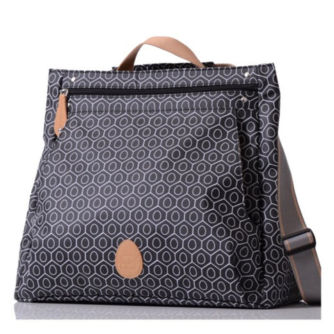 PacaPod Lewis Nappy Bag - Black Tile