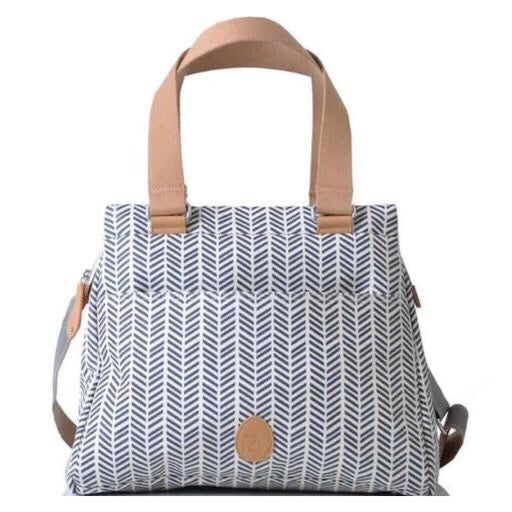 PacaPod Richmond Nappy Bag - Navy Herringbone
