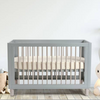 Cocoon Allure 4 in 1 Cot - Dove Grey and Natural Wash