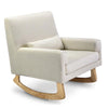 Nursery Works Sleepytime Rocker and Stool - Oatmeal with Light Ash Legs
