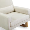 Nursery Works Sleepytime Rocker - Oatmeal with Light Ash Legs