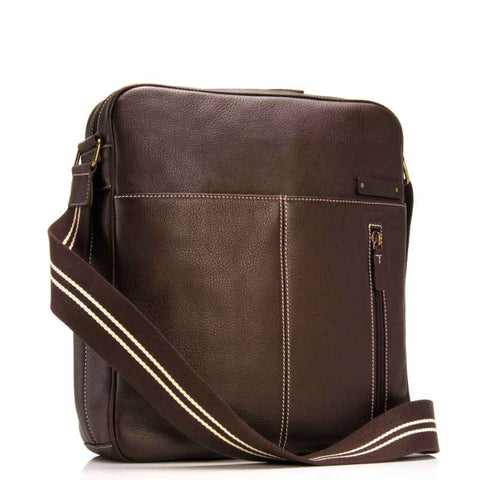 Storksak Jamie Leather Nappy Bag - Espresso