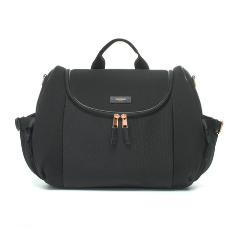 Storksak Poppy Luxe Nappy Bag - Black Scuba