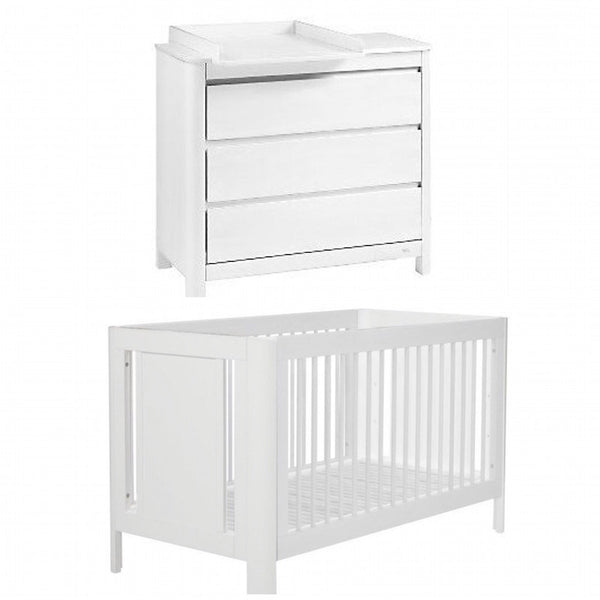 Troll Sun Cot and Dresser Package - White