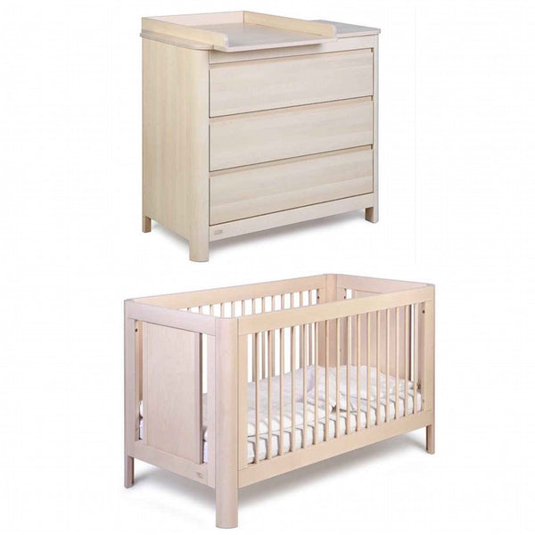 Troll Sun Cot and Dresser Package - Whitewash