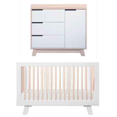 Babyletto Hudson Package - White and Washed Natural