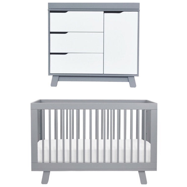 Babyletto Hudson Cot and Change Table Package - Grey