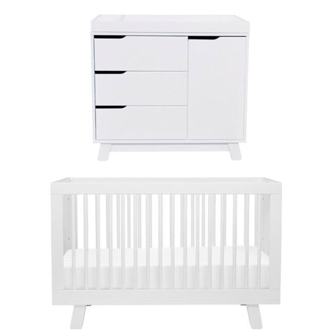 Babyletto Hudson Cot and Change Table Package - White