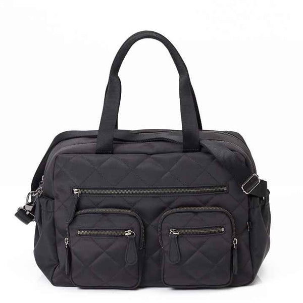 OiOi Quilted Carry All Nappy Bag - Black