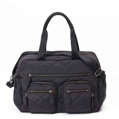 OiOi Diamond Quilted Carry All Nappy Bag - Black