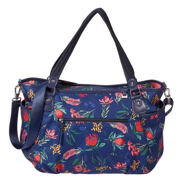 OiOi Tote Nappy Bag - Navy Botanical