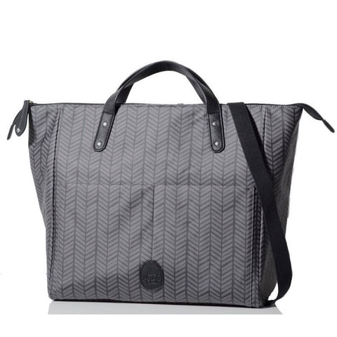 PacaPod Saunton Nappy Bag - Charcoal Herringbone