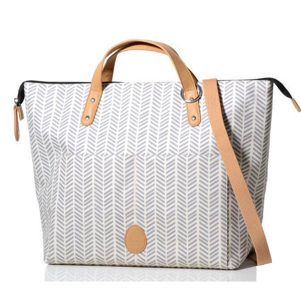 PacaPod Saunton Nappy Bag - Dove Herringbone