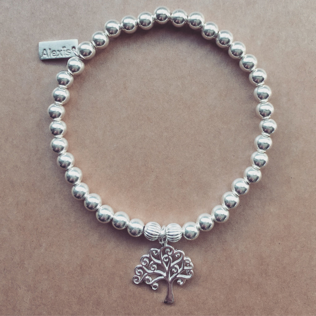 sterling ladies silver tree life of bracelet