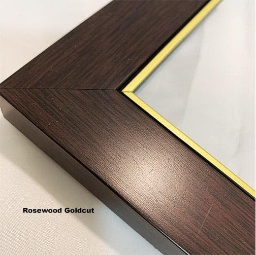 Rosewood Brown Goldcut Mould