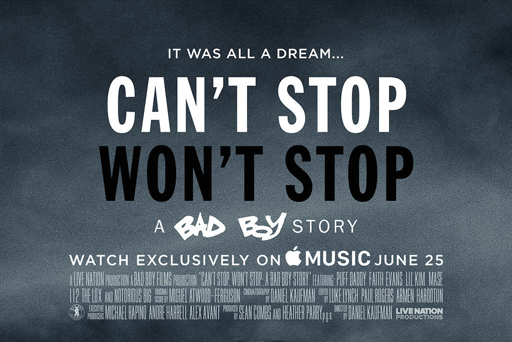 Can't Stop Won't Stop: A Bad Boy Story coming to Apple Music