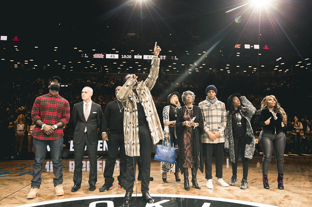 Diddy and the Brooklyn Nets Pay Tribute to Notorious B.I.G. (Video)