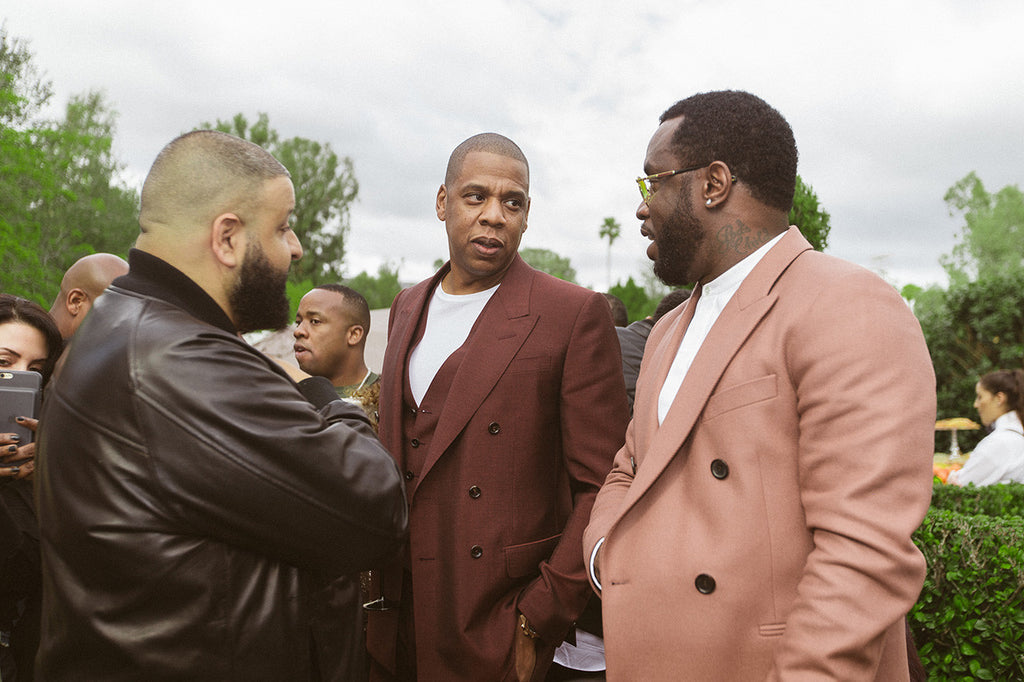 Diddy and JAY Z at Roc Nation's Grammy Brunch