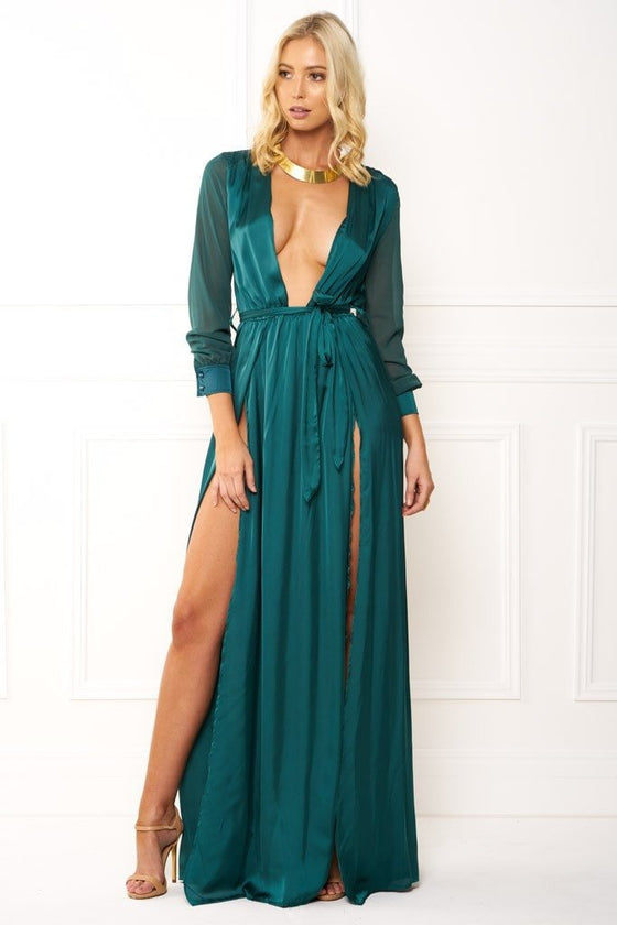 Honey Couture STEPH Emerald Green Maxi DressHoney CoutureHoney Couture AfterPay OxiPay ZipPay
