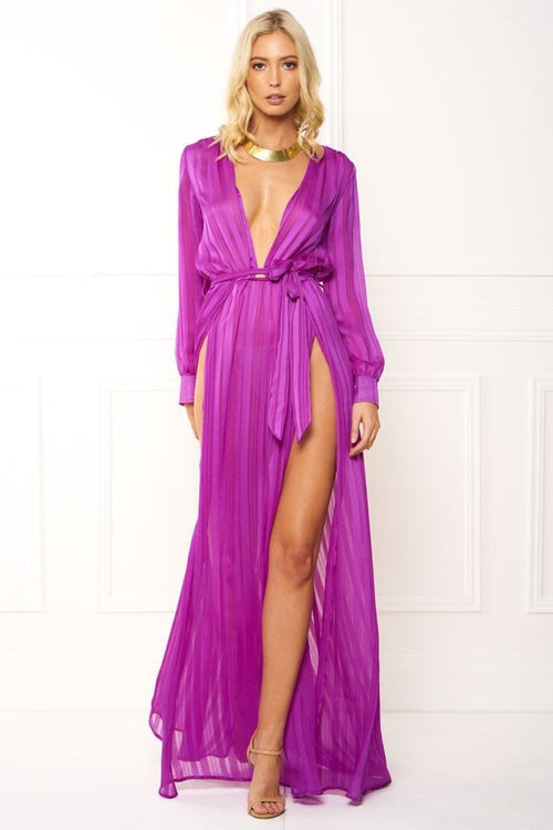 Honey Couture STEPH Purple Maxi Dress Australian Online Store Honey Couture AfterPay ZipPay