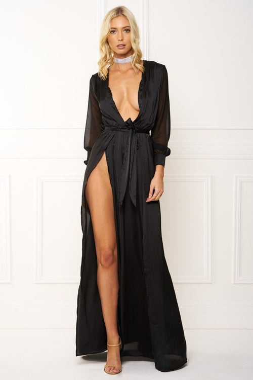 Honey Couture STEPH Black Maxi Dress Australian Online Store Honey Couture AfterPay ZipPay