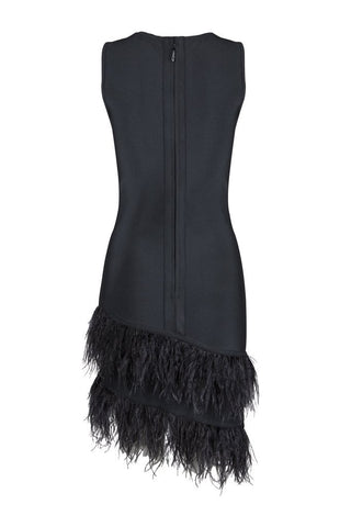 Honey Couture NIXIE Black Sleeveless Feather Mini DressHoney CoutureHoney Couture AfterPay OxiPay ZipPay