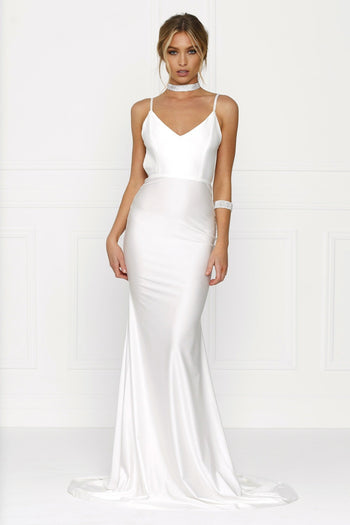 Honey Couture JADE White Formal Gown Dress Australian Online Store Honey Couture AfterPay ZipPay