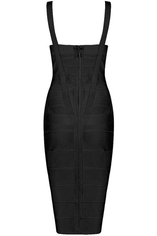 Honey Couture LEONIE Black Midi Bandage DressHoney CoutureHoney Couture AfterPay OxiPay ZipPay