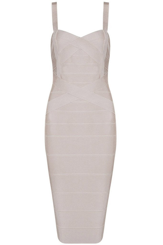 Honey Couture LEONIE Apricot Midi Bandage DressHoney CoutureHoney Couture AfterPay OxiPay ZipPay