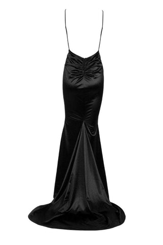 Honey Couture MILEE Black Low Back Mermaid Evening Gown DressHoney CoutureHoney Couture AfterPay OxiPay ZipPay
