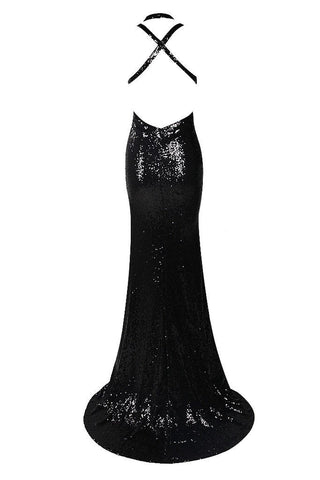 Honey Couture ALLESIA Black Sequin Strappy Cut Out Low Back Formal Gown DressHoney CoutureHoney Couture AfterPay OxiPay ZipPay