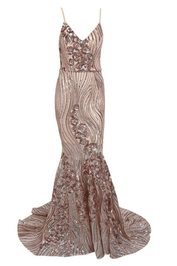 Honey Couture MARISSA Gold Glitter Sequin Mermaid Formal Gown Dress Australian Online Store Honey Couture AfterPay ZipPay