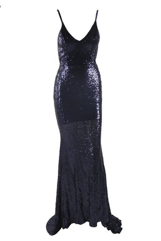Honey Couture ELIZABETH Black Low Back Sequin Formal Gown DressHoney CoutureHoney Couture AfterPay OxiPay ZipPay