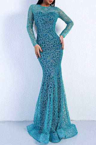 Honey Couture MUNROE Green Sequin Long Sleeve Evening Gown Dress Honey Couture Honey Couture AfterPay ZipPay OxiPay Sezzle Free Shipping