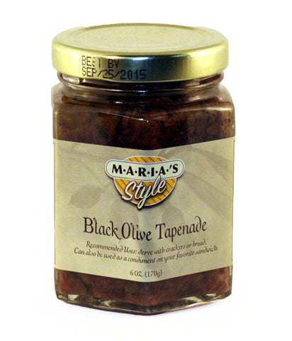 Black Olive Tapenade 6oz. (Rich Olive Spread for Sandwiches)