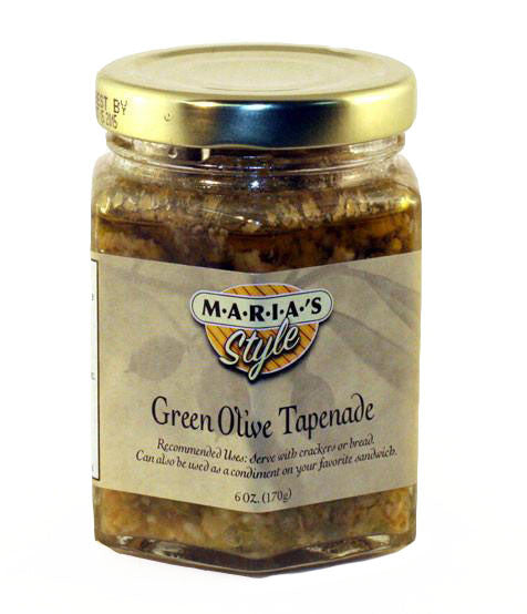 Green Olive Tapenade 6oz. (Rich Olive Spread for Sandwiches)