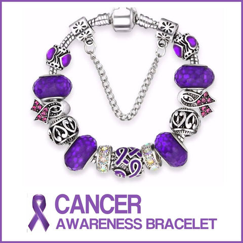 Cancer Awareness Charm Bracelets
